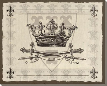 Light Crowns 2 Wrapped Canvas Giclee Print Wall Art