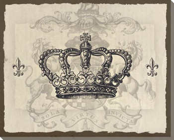 Light Crowns 3 Wrapped Canvas Giclee Print Wall Art