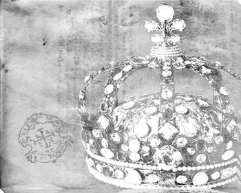 Larger Grey Crown 3 Wrapped Canvas Giclee Print Wall Art