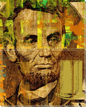 Abraham Lincoln on Five Dollar Bill Wrapped Canvas Giclee Print
