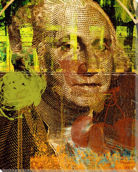 George Washington on One Dollar Bill Wrapped Canvas Giclee Print