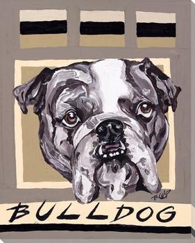 Bulldog Wrapped Canvas Giclee Print Wall Art