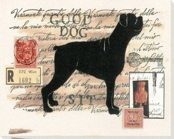 Boxer Dog Wrapped Canvas Giclee Print Wall Art