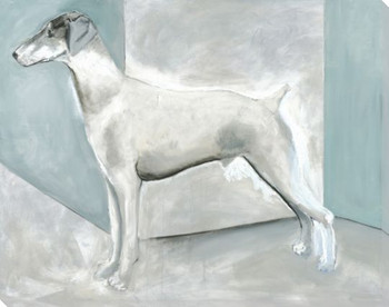 Ghost Dog Wrapped Canvas Giclee Print Wall Art