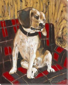 Beagle Dog Wrapped Canvas Giclee Print Wall Art