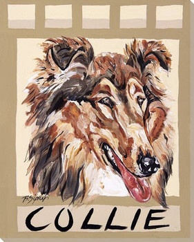 Collie Dog Wrapped Canvas Giclee Print Wall Art