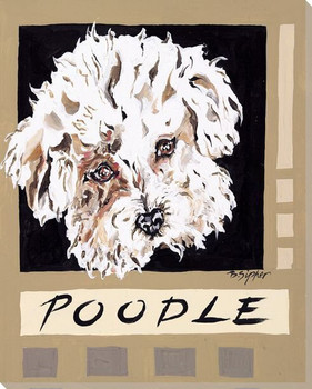 Poodle Dog Wrapped Canvas Giclee Print Wall Art