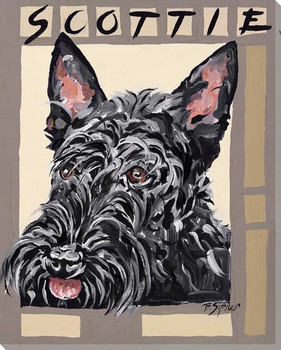 Scottie Dog Wrapped Canvas Giclee Print Wall Art