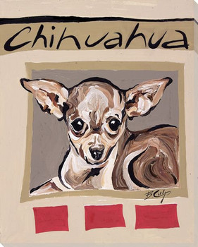 Chihuahua Dog Wrapped Canvas Giclee Print Wall Art