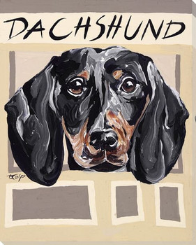 Dachshund Dog Wrapped Canvas Giclee Print Wall Art