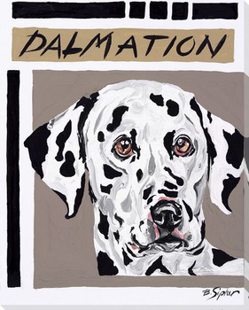 Dalmatian Dog Wrapped Canvas Giclee Print Wall Art