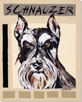 Schnauzer Dog Wrapped Canvas Giclee Print Wall Art