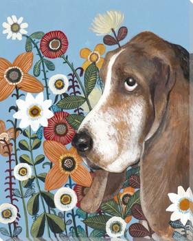 Flower Dog III Wrapped Canvas Giclee Print Wall Art