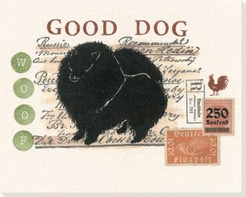 Pomeranian Dog Wrapped Canvas Giclee Print Wall Art