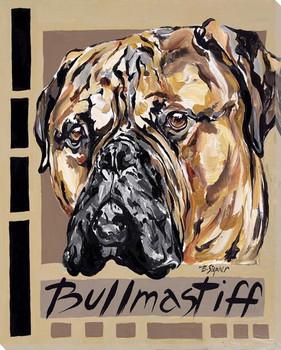 Bullmastiff Dog Wrapped Canvas Giclee Print Wall Art