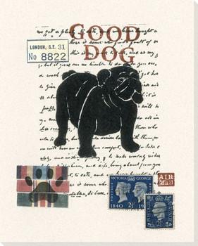 English Bulldog Wrapped Canvas Giclee Print Wall Art