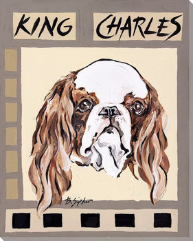 King Charles Dog Wrapped Canvas Giclee Print Wall Art