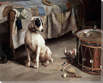 Dog Hide and Seek Wrapped Canvas Giclee Print Wall Art