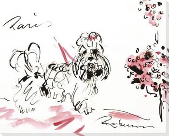Shih Tzu Dog Sketch Wrapped Canvas Giclee Print Wall Art