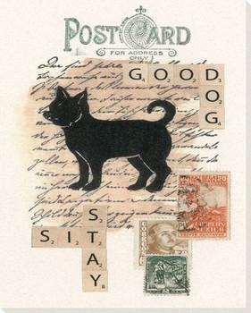 Chihuahua Dog Postcard Wrapped Canvas Giclee Print Wall Art