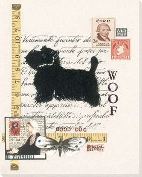 West Highland Terrier Dog Wrapped Canvas Giclee Print Wall Art