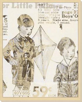 Boys' Kite Wrapped Canvas Giclee Print Wall Art