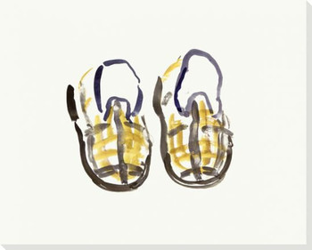 Plaid Shoes Wrapped Canvas Giclee Print Wall Art