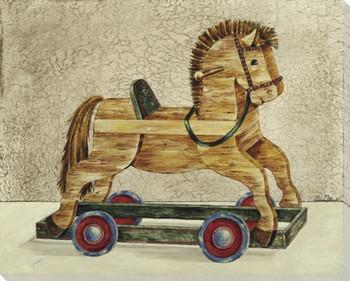 Trojan Horse Wrapped Canvas Giclee Print Wall Art