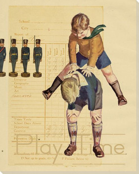 Boys Play Time Wrapped Canvas Giclee Print Wall Art