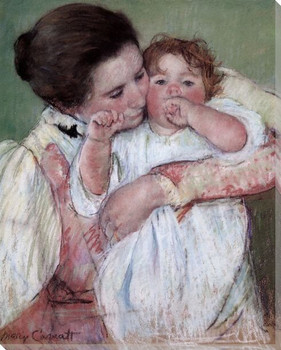 Mother and Child Wrapped Canvas Giclee Print Wall Art