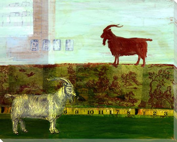 Goat Collage Wrapped Canvas Giclee Print Wall Art