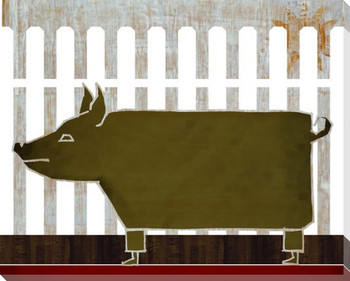 Farm Raised Pig Wrapped Canvas Giclee Print Wall Art