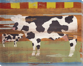 State Fair Cows Wrapped Canvas Giclee Print Wall Art