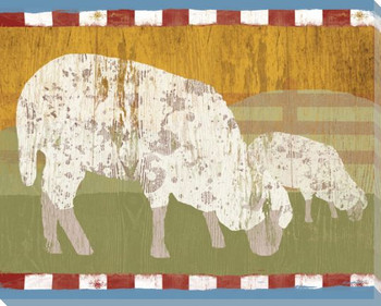 State Fair Sheep Wrapped Canvas Giclee Print Wall Art