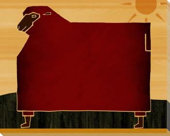 Farm Raised Sheep Wrapped Canvas Giclee Print Wall Art