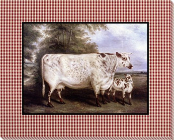 Cowslip and a Calf 2 Wrapped Canvas Giclee Print Wall Art