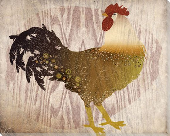 Adorned Chicken Bird 1 Wrapped Canvas Giclee Print Wall Art