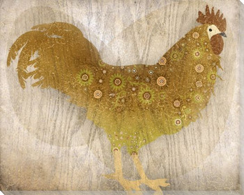 Adorned Chicken Bird 6 Wrapped Canvas Giclee Print Wall Art