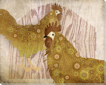 Adorned Chicken Birds 7 Wrapped Canvas Giclee Print Wall Art