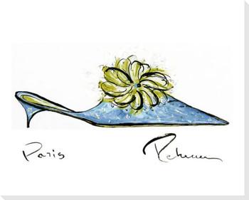 Aqua Shoe Wrapped Canvas Giclee Print Wall Art