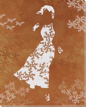 Bird Dress Wrapped Canvas Giclee Print Wall Art