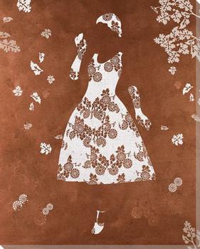 Leaf Dress Wrapped Canvas Giclee Print Wall Art