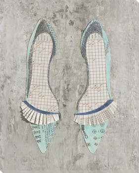 Paper Shoes Wrapped Canvas Giclee Print Wall Art