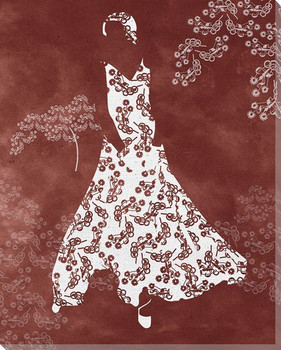 Flower Dress Wrapped Canvas Giclee Print Wall Art
