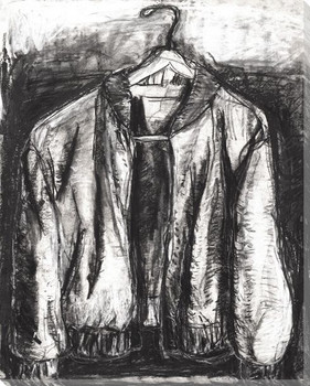 Sketched Jacket Wrapped Canvas Giclee Print Wall Art