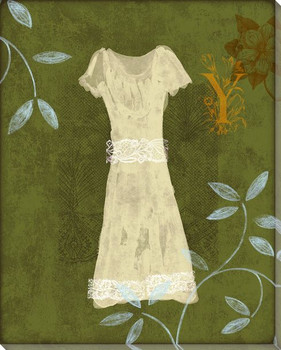 In the Garden Dress Wrapped Canvas Giclee Print Wall Art