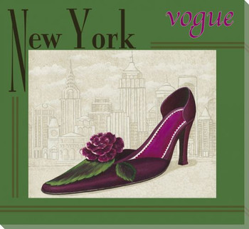New York Vogue Shoe Wrapped Canvas Giclee Print Wall Art