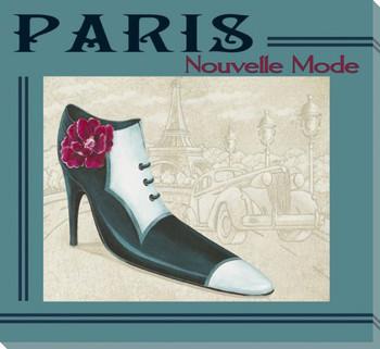 Paris Nouvelle Mode Shoe Wrapped Canvas Giclee Print Wall Art