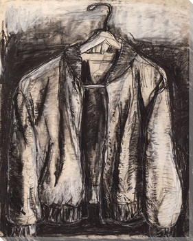 Sketched Jacket on Hanger Wrapped Canvas Giclee Print Wall Art