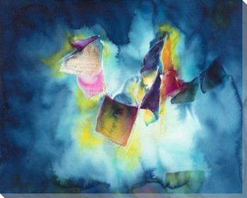 Night Flags Wrapped Canvas Giclee Print Wall Art